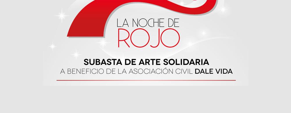 La noche de rojo. Subasta de arte solidaria