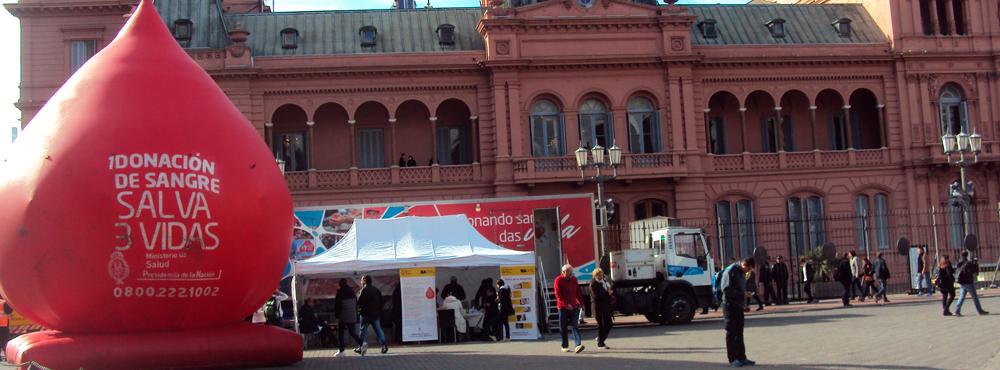 Jornada de donación voluntaria en Casa Rosada y plaza de Mayo