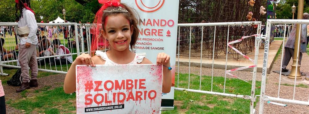 Zombies Solidarios: la AAHITC estuvo presente en la Zombie Walk 2016